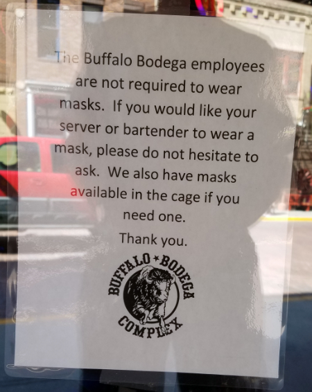 Bodega door sign, 7-18-20