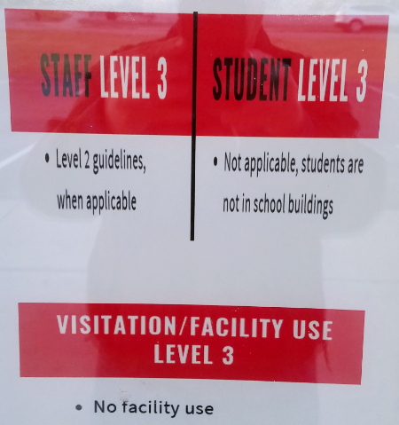 South Middle School sign, 11-21-20